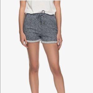 Roxy Trippin Stripe Sweat/Lounge Shorts